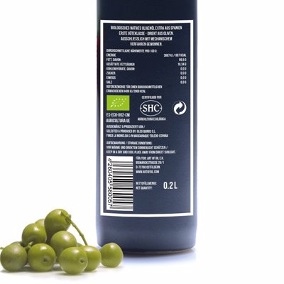 BIO - Natives Olivenöl Extra - ORIGINAL 200ml Produktfoto 2 image