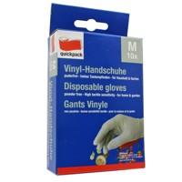 Die weißen Vinyl-Handschuhe im 10er Pack, Größe M Produktfoto