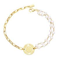 SHIRUSHI Armband gold/weiße Perle Produktfoto