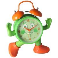 ABC spielerisch die Uhrzeit lernen, Ticki Tack der Kinderwecker grün orange, inklusive Batterie Produktfoto