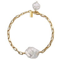 SHINJU Armband gold/weiße Perle Produktfoto