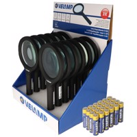 Thekendisplay bestehend aus 12 Lupen mit LED-Beleuchtung und 3fach Vergrößerung mit 12 LEDs, IN287, ideal geeignet... Produktfoto