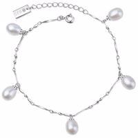 MAIKO Armband Silber/weiße Perle Produktfoto