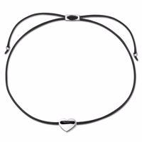 LUCIE Armband schwarz/silber Produktfoto