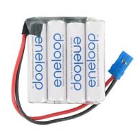 Empfänger Pack Panasonic eneloop Standard (ehem. Sanyo eneloop Standard) AAA 4er Reihe 4,8/800 Graupner Produktfoto