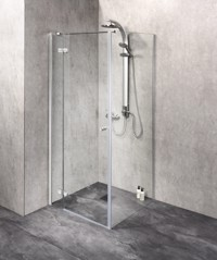 Duschkabine/ Duschabtrennung Dusbad Vital 3 Tür Wand Kombination Anschlag links - Breite: 80cm Produktfoto