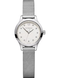 Wenger Uhr - Alliance XS ø28, warm white dial, silver mesh bracelet Produktfoto