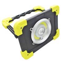 LED Baustrahler 20W max. 350lm im Kunststoffgehäuse schwarz, gelb inklusive 4400mAh Li-Ion Akku und USB-Ladekabel Produktfoto