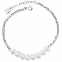 MAKANI Armband Silber/weiße Perle Produktfoto