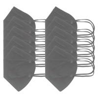 10 Stück FFP2 Maske Grau 5-Lagig, zertifiziert nach DIN EN149:2001+A1:2009, partikelfiltrierende Halbmaske, FFP2... Produktfoto