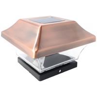Zaunpfostenleuchte Solar LED Leuchte für Zaunpfähle, Garten Pfostenkappen, Zaunpfosten GL067COP mit 2 Adaptern in... Produktfoto