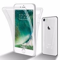 Cadorabo Hülle kompatibel mit Apple iPhone 7 / 7S / 8 / SE 2020 in TRANSPARENT - 360° Full Body Handyhülle Front und Rückenschutz Rundumschutz Schutzhülle mit Displayschutz Produktfoto