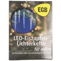 EGB LED-Eiszapfen-Lichterkette 40 Zapfen weiße LED 4027236043409 Produktfoto