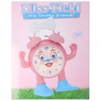 ABC spielerisch die Uhrzeit lernen, Miss Ticki der Kinderwecker pink weiß, inklusive Batterie Produktfoto