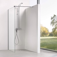 Dusbad Vital 8 Dusche/ Seitenwand/ Walk in Solo Duschwand 140cm Produktfoto