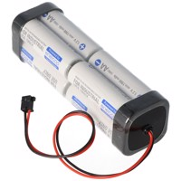 Sender Akku Panasonic eneloop Standard AA 8er Würfel 9,6 2000 mit Kabel und Graupner Stecker Produktfoto