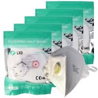 10 Stück Premium FFP3 Maske latexfrei 5-Lagig mit Ventil, Wochenration, zertifiziert nach DIN EN149:2001+A1:2009,... Produktfoto