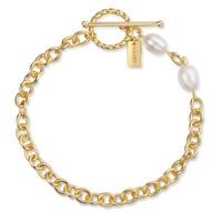 SHOUHEI Armband gold/weiße Perle Produktfoto