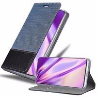Cadorabo Hülle für Vivo V11 in DUNKEL BLAU SCHWARZ - Handyhülle mit Magnetverschluss, Standfunktion und Kartenfach - Case Cover Schutzhülle Etui Tasche Book Klapp Style Produktfoto