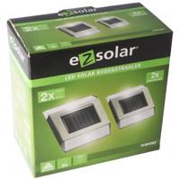 LED Solar Bodenleuchte mit 2 weissen LED max. 12 Lumen, Leuchtdauer max. 8 Stunden Produktfoto
