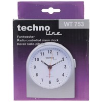 WT 753 Funkwecker Silber Weckerzeiten 1 fluoreszierende Zeiger Produktfoto