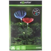 LED-Gartenlicht Löwenzahn mit 2 RGB LED Farbwechsel, inklusive Solarpanel und Akku Produktfoto