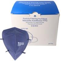 20 Stück FFP2 Maske Blau 5-Lagig, zertifiziert nach DIN EN149:2001+A1:2009, partikelfiltrierende Halbmaske, FFP2... Produktfoto
