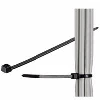 Kabelbinder schwarz aus wetterfestem Nylon, Länge 150mm, 100 Stück Produktfoto
