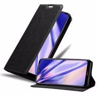 Cadorabo Hülle kompatibel mit Nokia 2.4 in NACHT SCHWARZ - Handyhülle mit Magnetverschluss, Standfunktion und Kartenfach - Case Cover Schutzhülle Etui Tasche Book Klapp Style Produktfoto