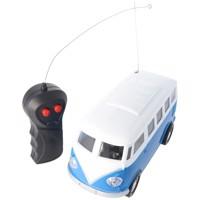 Retro Bus Bulli RC-Model im Maßstab 1:24 Farbe blau inklusive 5 AA Mignon Batterien Produktfoto