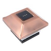 Zaunpfostenleuchte Solar LED Leuchte für Zaunpfähle, Garten Pfostenkappen, Zaunpfosten GL067COP im Kupfer Design mit... Produktfoto