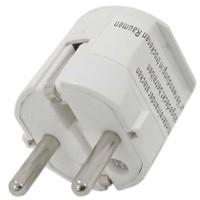 Schukostecker weiß, Schutzkontaktstecker weiss, Schuko-Stecker mit Zugentlastung IP44 16A 250V, mit doppeltem... Produktfoto