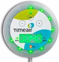 timeair - CO2 Messgerät mit Restzeit-Anzeige   CO2-Ampel + mehr Produktfoto