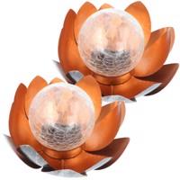 Bezauberndes Solar Lotusblüten Duett, Lotusblume Solar LED Gartenlicht Deko Produktfoto