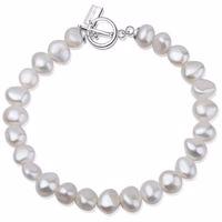 MENOA Armband Silber/weiße Perle Produktfoto