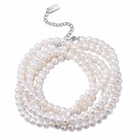 MOE Armband-Halskette Silber/weiße Perle Produktfoto