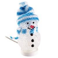 Der dekorative LED USB Schneemann mit dem blauen Schal und der blauen Mütze Produktfoto